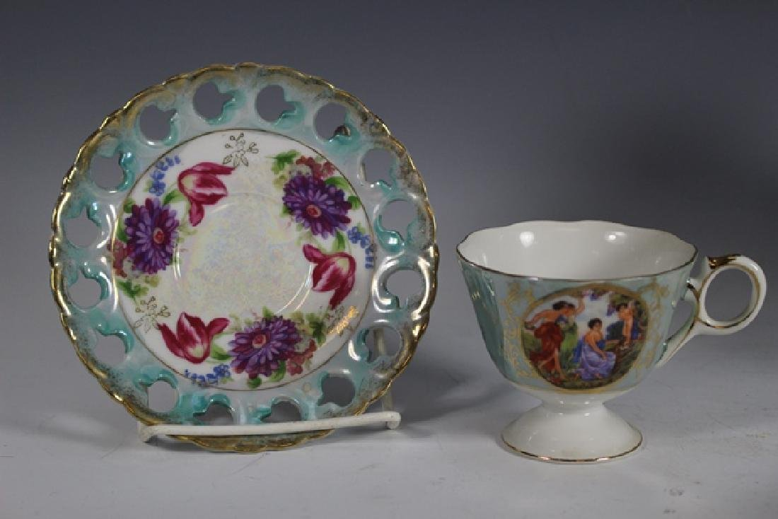 Eight Chocolate Cups and Saucers - 7