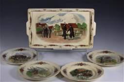 19th C. Utzschneider et Cie Obernai Faience Pieces