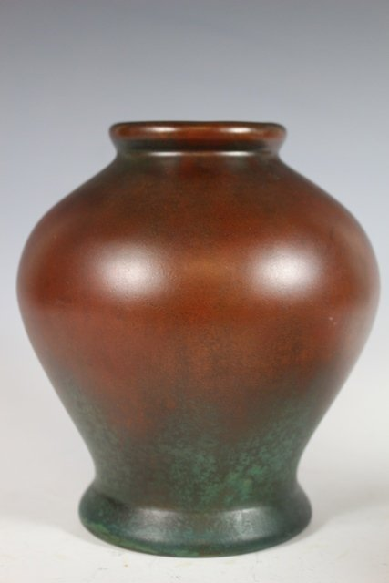 Pair of  CLEWELL Pottery  Arts and Crafts Copper-Clad - 5