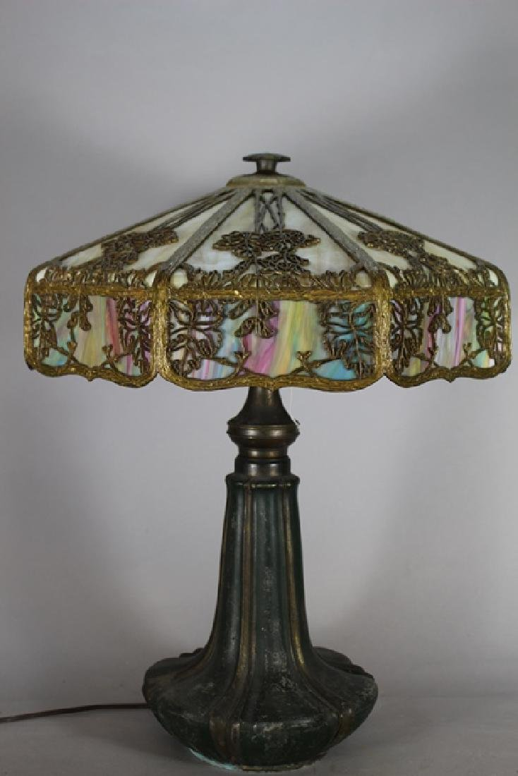 Jefferson Stained Glass Panel Lamp