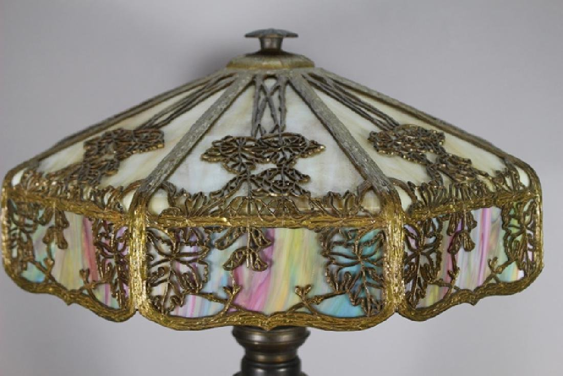 Jefferson Stained Glass Panel Lamp - 2