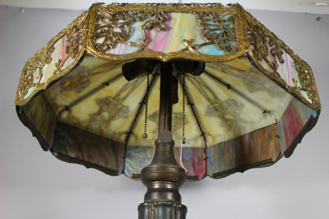 Jefferson Stained Glass Panel Lamp - 5