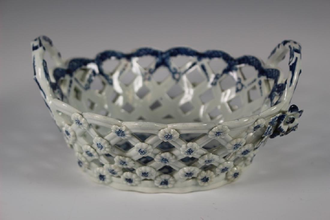 Dr. Wall Period Worcester Porcelain Basket