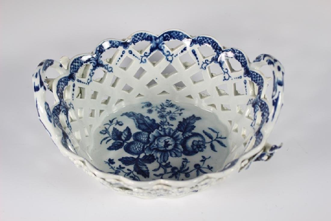 Dr. Wall Period Worcester Porcelain Basket - 2