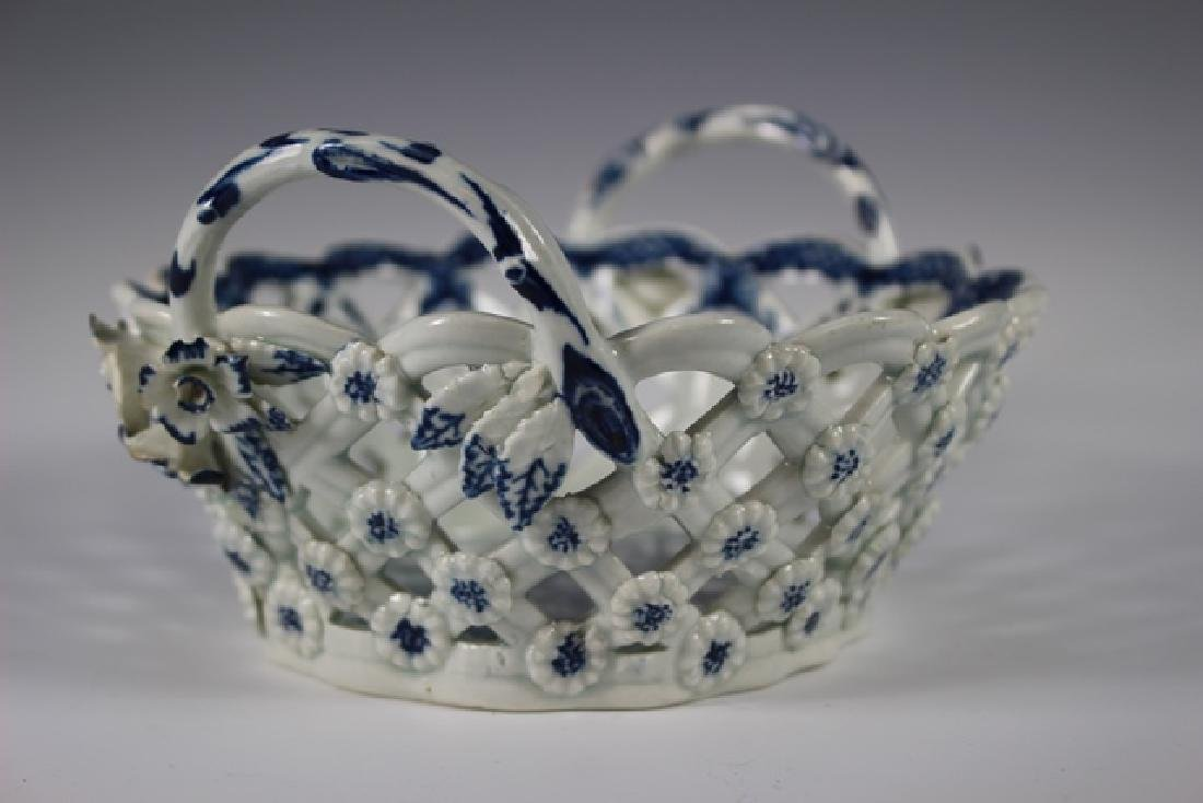Dr. Wall Period Worcester Porcelain Basket - 4