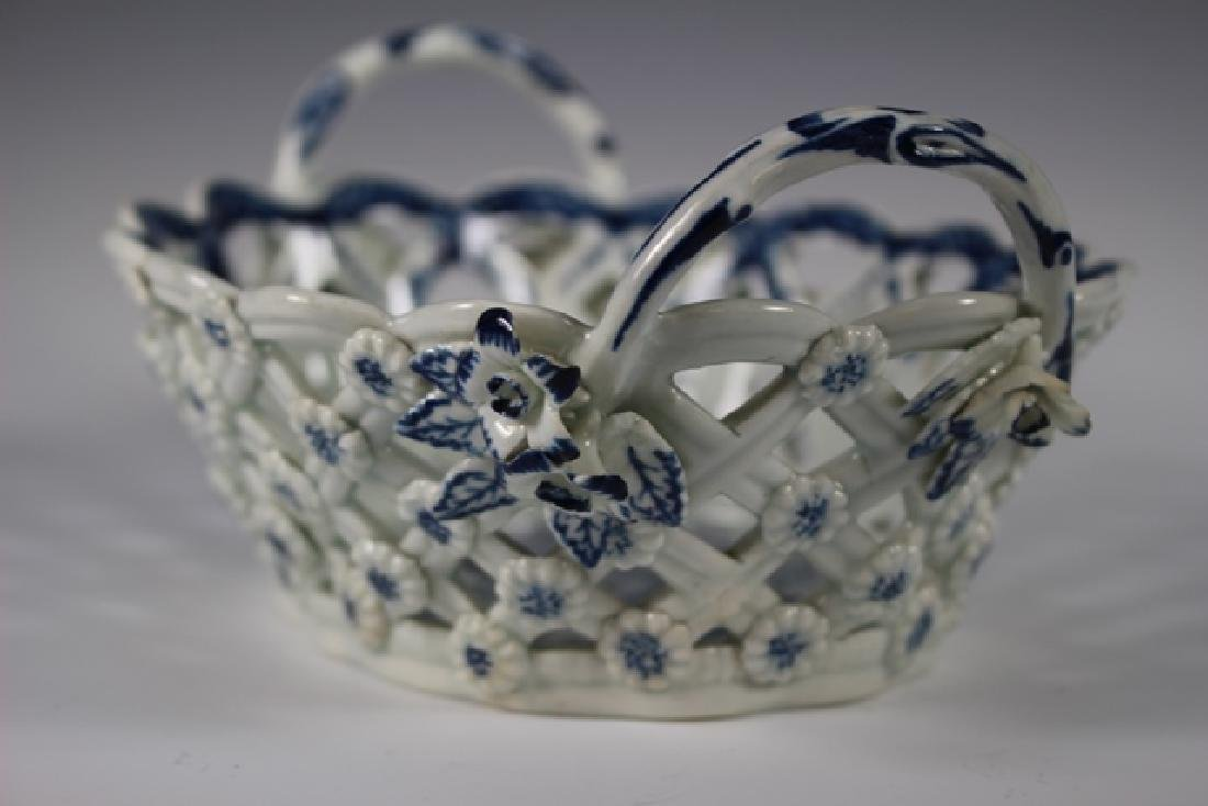 Dr. Wall Period Worcester Porcelain Basket - 5