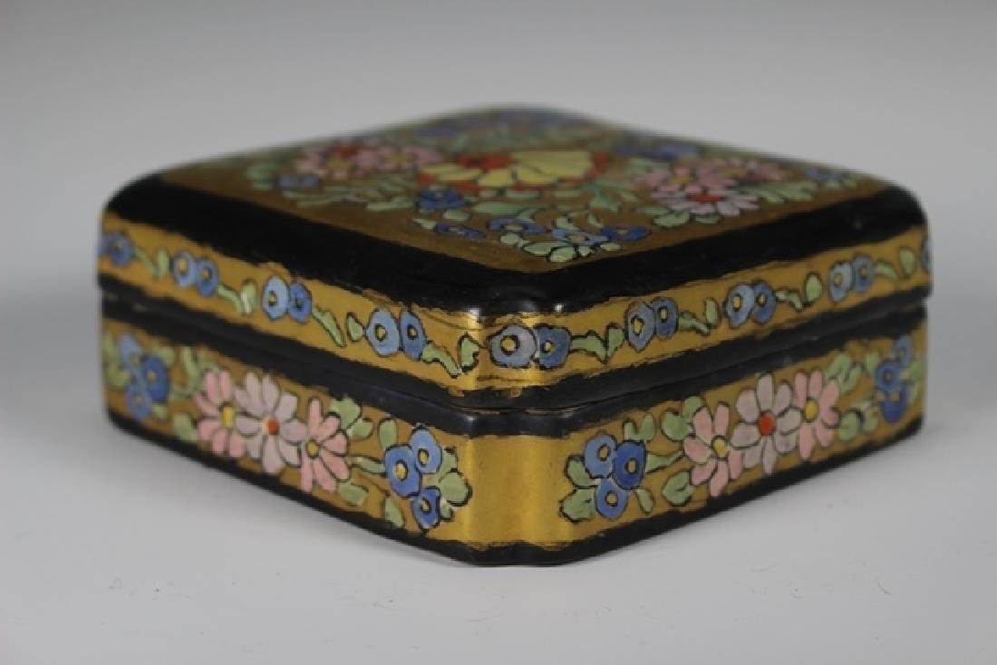 Art Deco Pottery Lidded Dresser Dish - 2