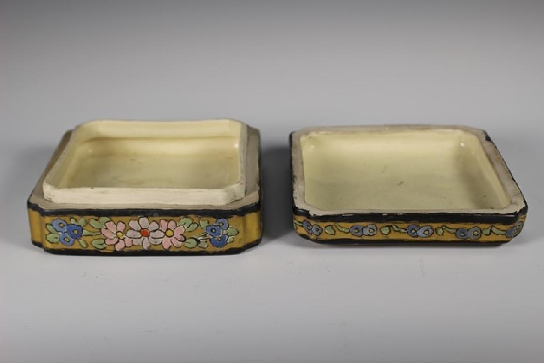 Art Deco Pottery Lidded Dresser Dish - 5