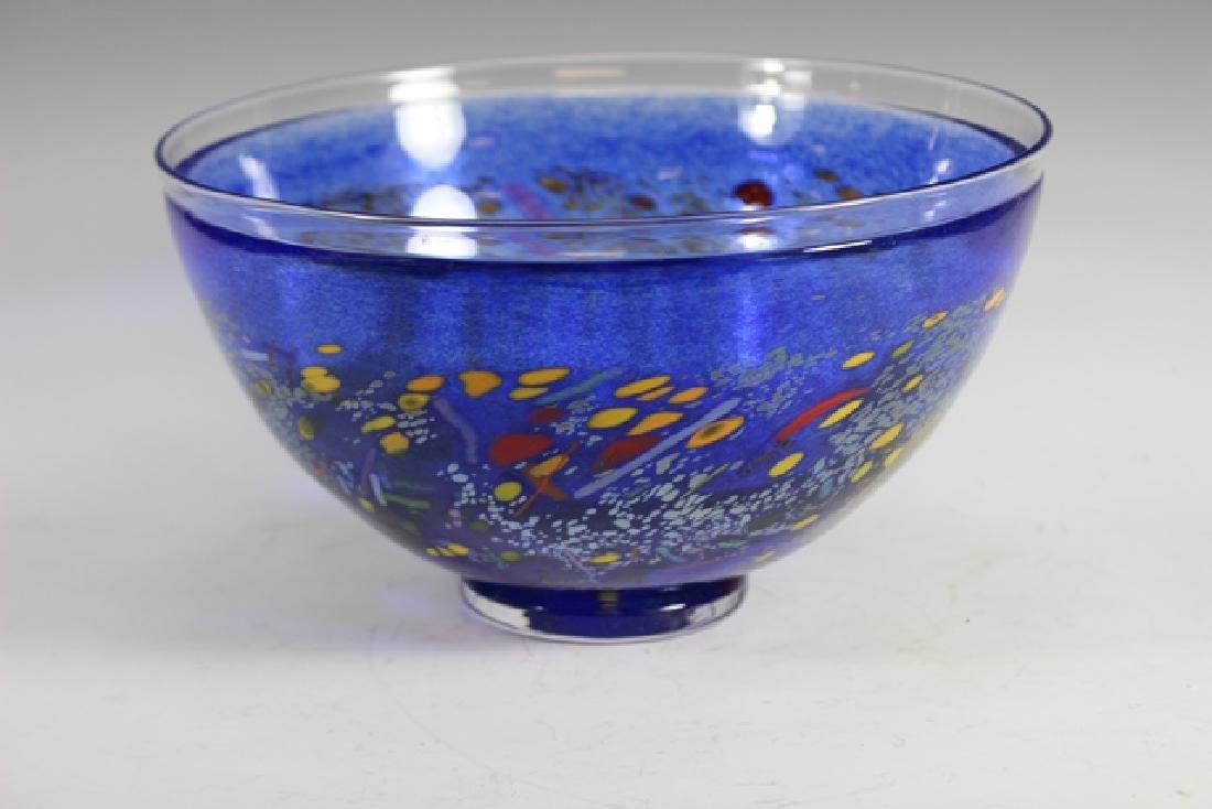 Bertil Vallien (Swedish, b. 1938) Kosta Art Glass Bowl
