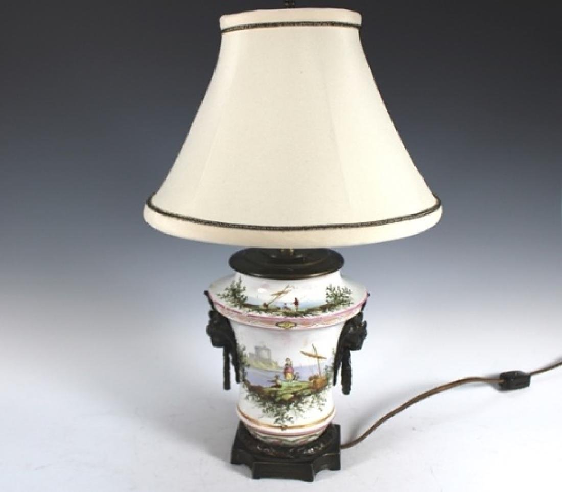 18th Century Porcelain Body Lamp