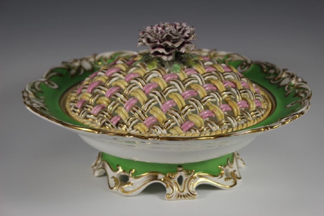 19th Century English Lidded Vegetable Bowl