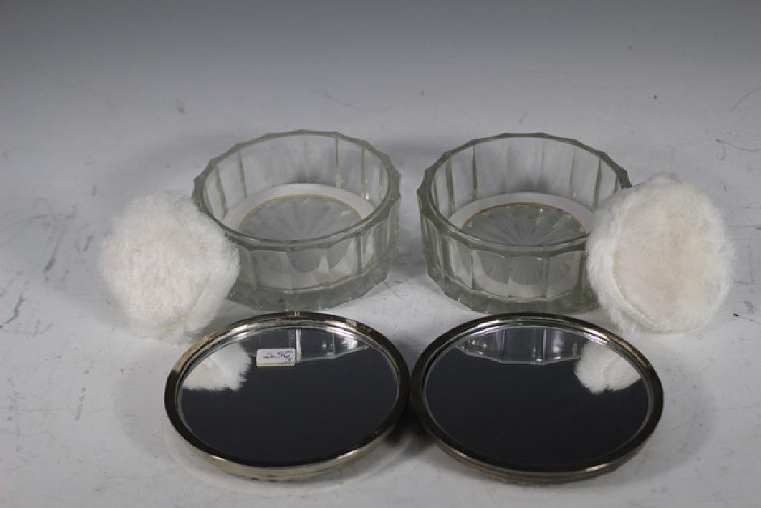 English Claw foot Dresser Box and 2 Powder Dishes - 7