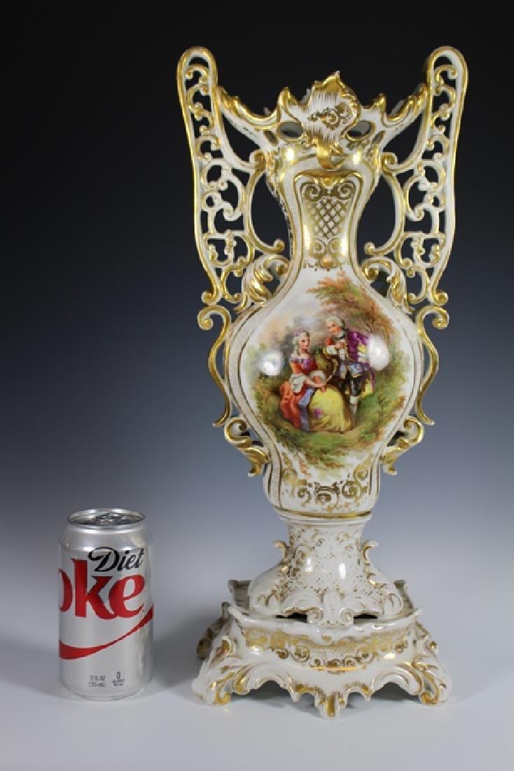 Monumental French OLD PARIS Porcelain Vase - 5
