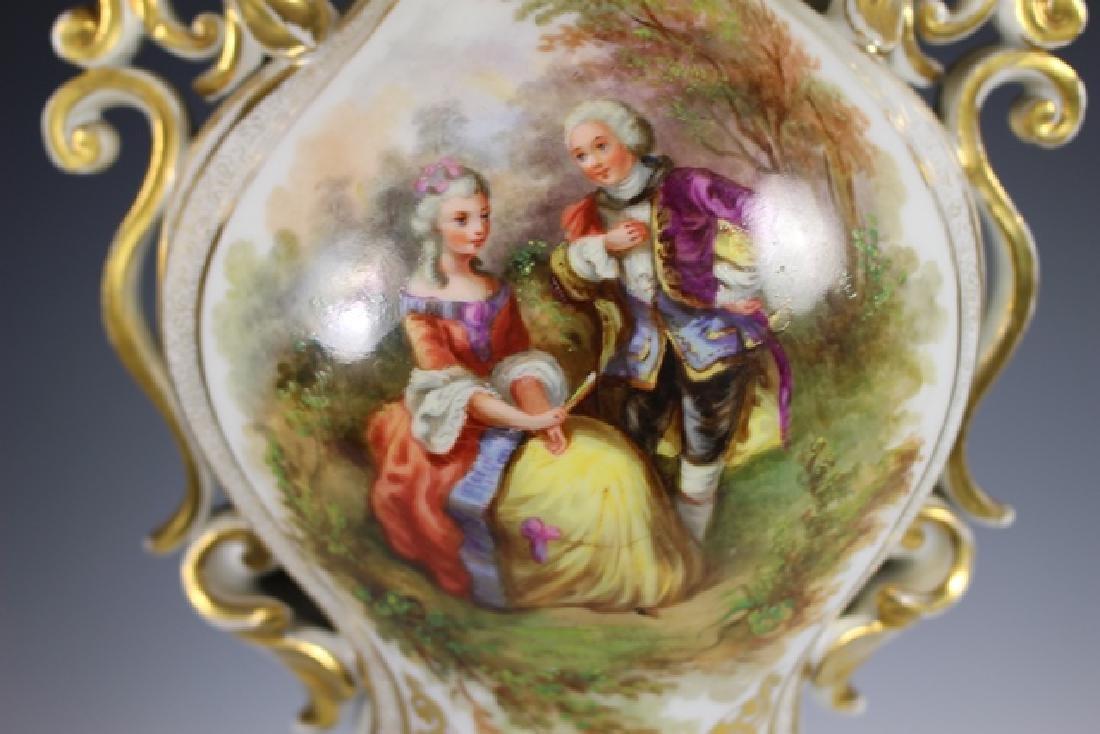 Monumental French OLD PARIS Porcelain Vase - 6