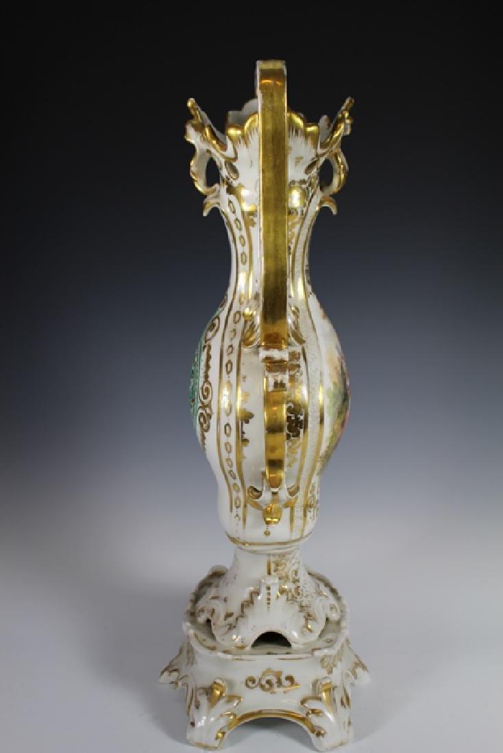 Monumental French OLD PARIS Porcelain Vase - 7