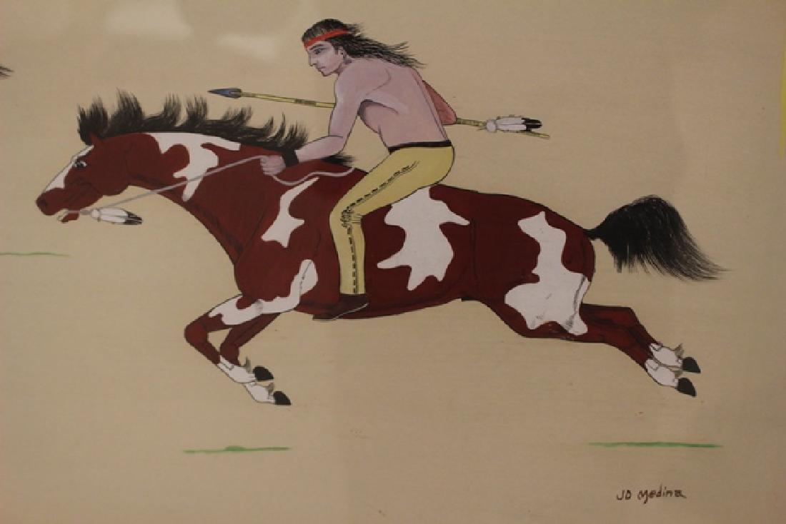 20th C. Zia Painting Signed JD Medina - 6