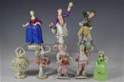 Collection of Eight Porcelain Figurines