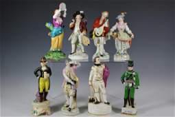 Eight Porcelain Figurines
