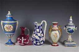 Five Piece Collection Austrian Porcelain and others