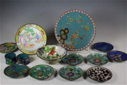 Group of Fourteen Cloisonne Pieces