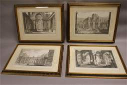 Four Roman Italian 18th Century Engrvings