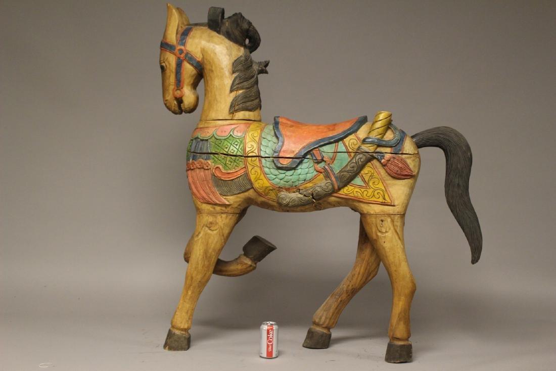 Folk Art Carousel Horse - 2