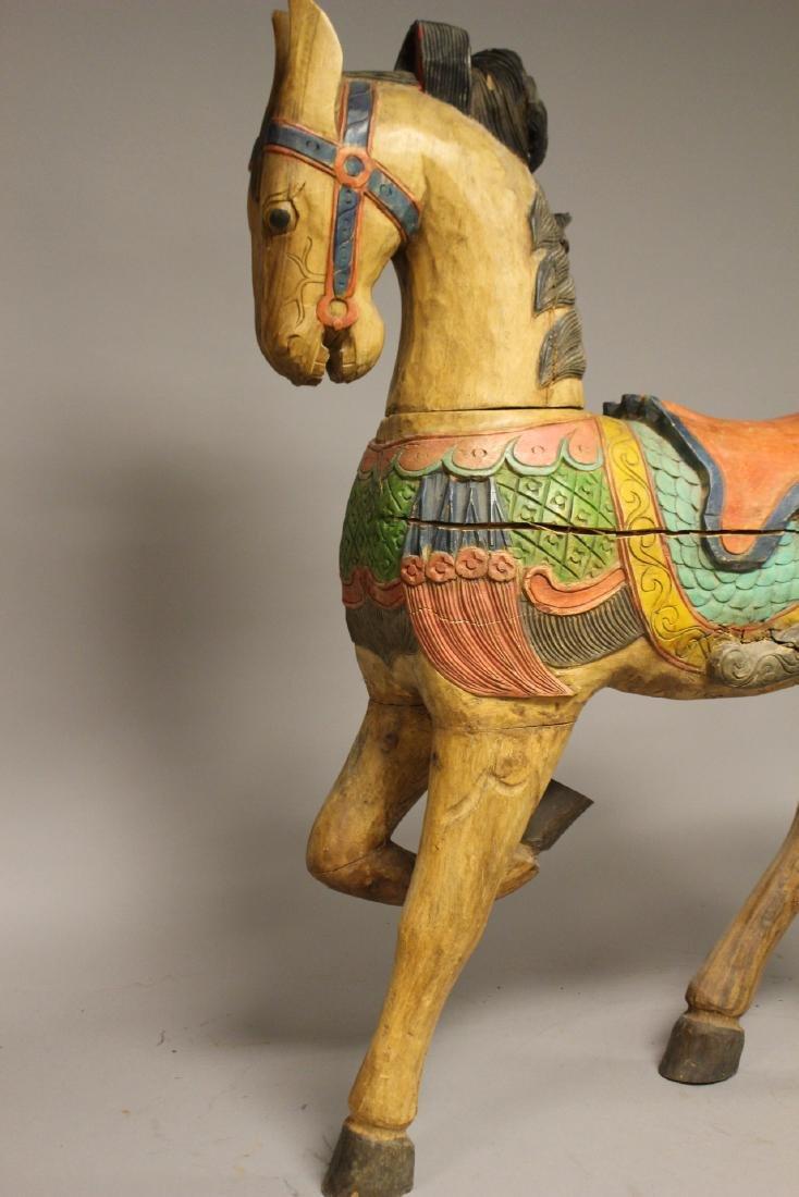 Folk Art Carousel Horse - 3