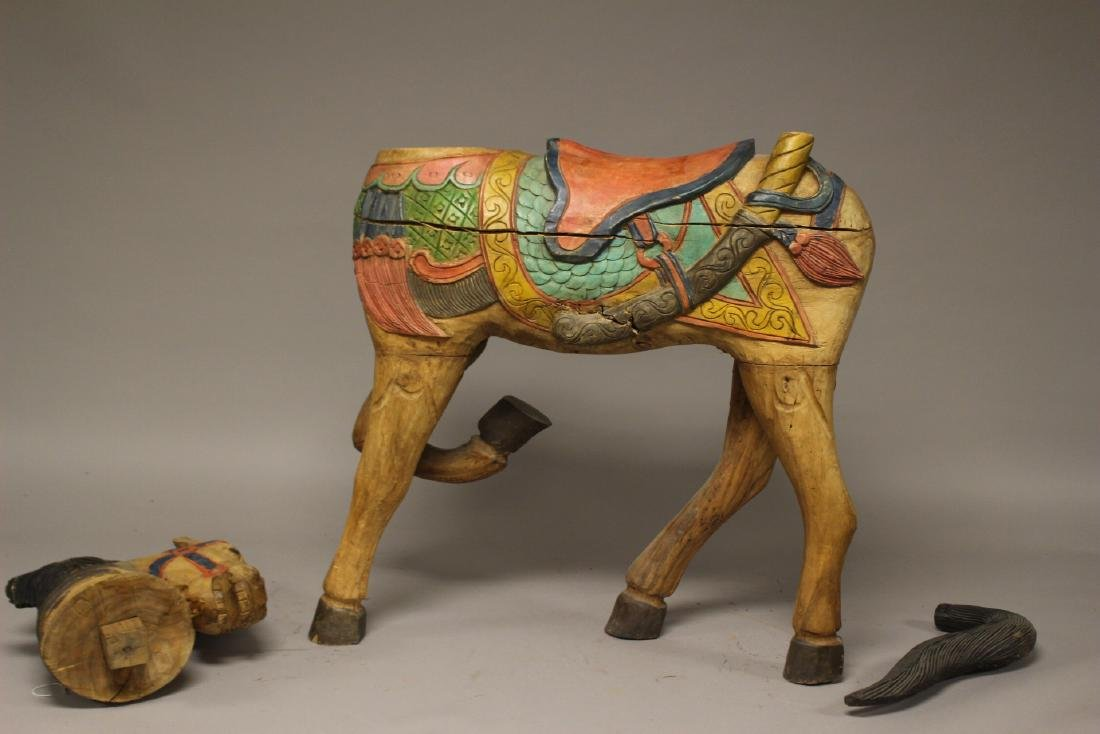 Folk Art Carousel Horse - 5