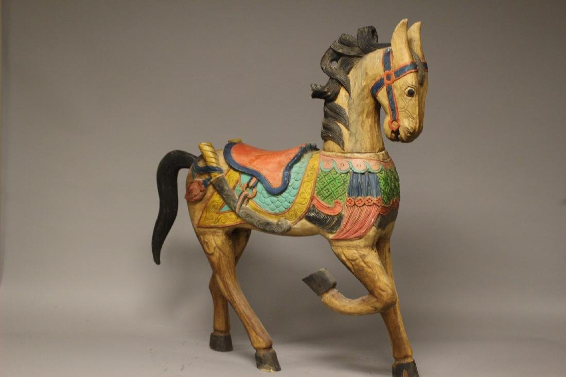 Folk Art Carousel Horse - 8