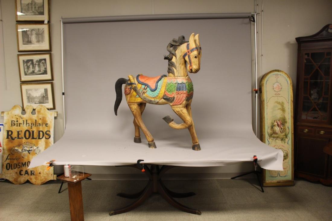 Folk Art Carousel Horse - 9