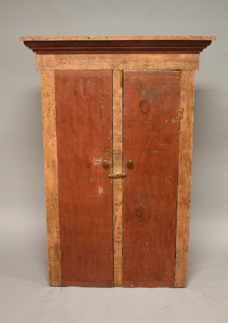 Country Primitive Painted Jelly Cupboard - 2