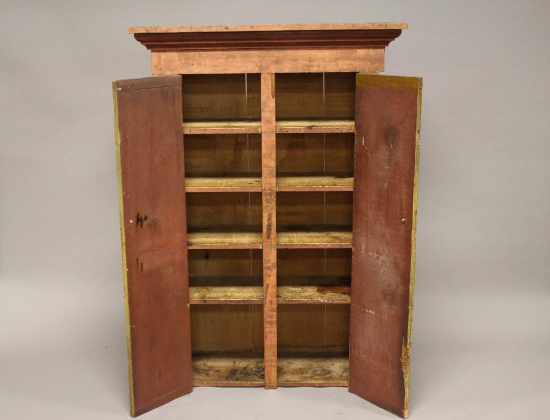Country Primitive Painted Jelly Cupboard - 3