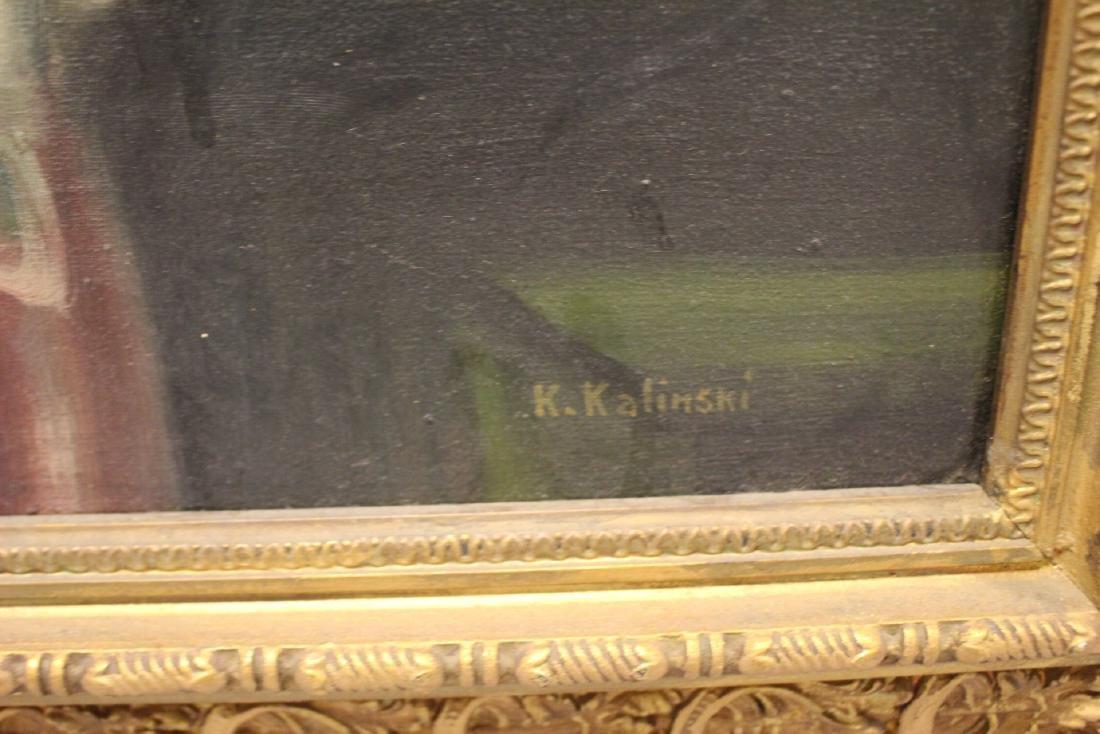 20th Century Oil on Canvas signed Kalinski - 6