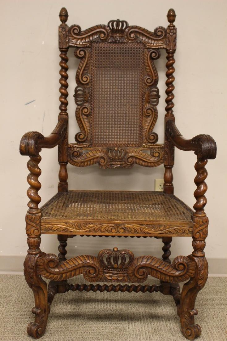 Karpen Furniture Co Throne Arm Chair