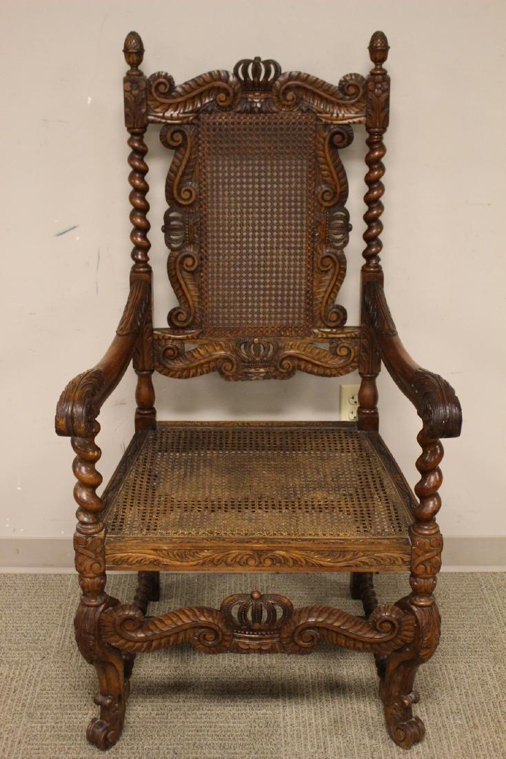 Karpen Furniture Co Throne Arm Chair - 2