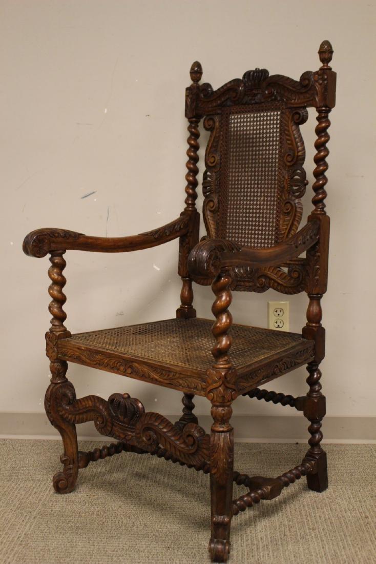 Karpen Furniture Co Throne Arm Chair - 3