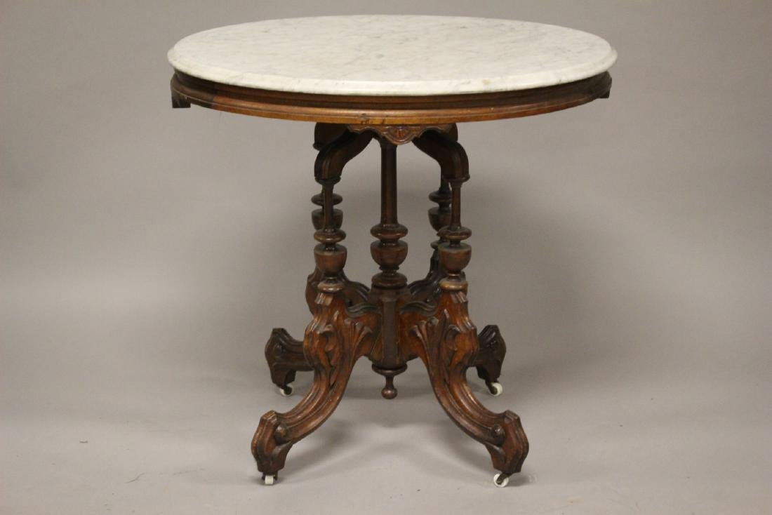 Fine Victorian Marble Top Table