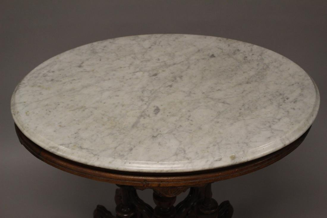 Fine Victorian Marble Top Table - 3