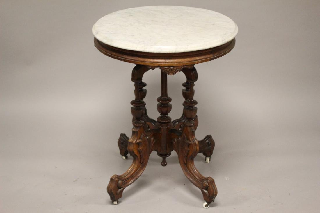 Fine Victorian Marble Top Table - 6