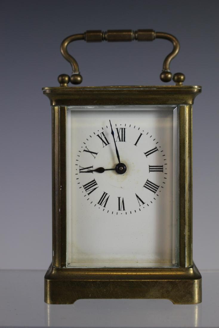19th Century French Brass Carriage Clock