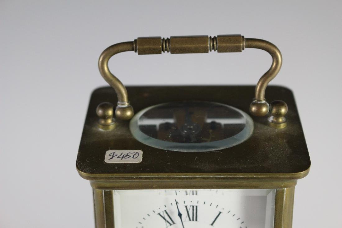 19th Century French Brass Carriage Clock - 3