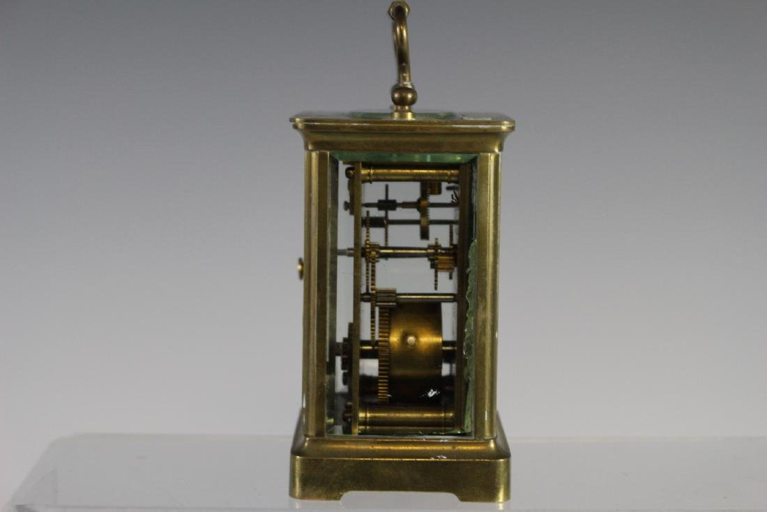 19th Century French Brass Carriage Clock - 4