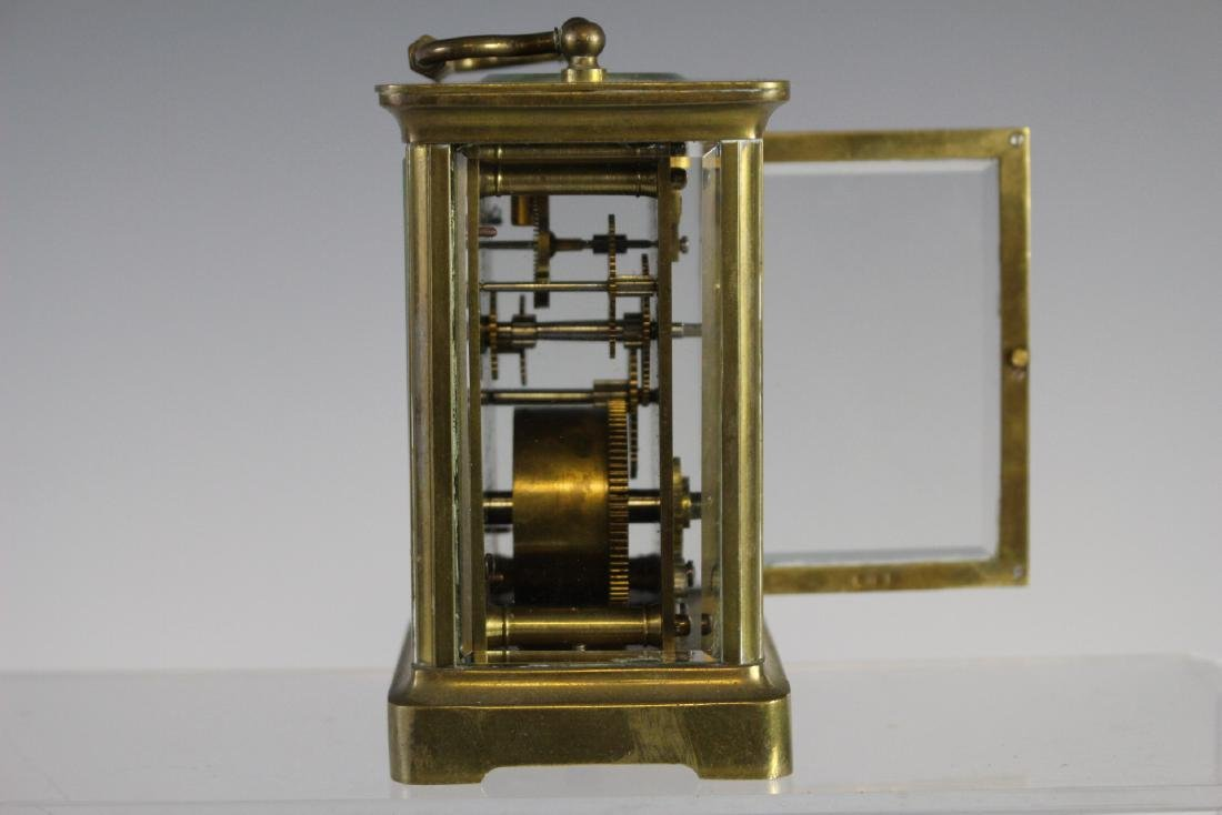 19th Century French Brass Carriage Clock - 9