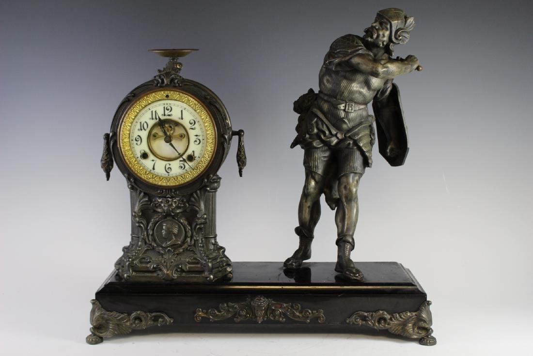 New Haven Clock WARRIOR Figural Clock