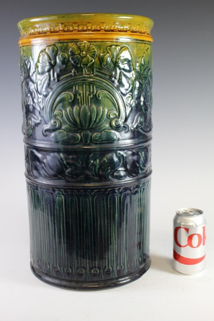 Weller High Glaze Pottery Umbrella Stand - 10