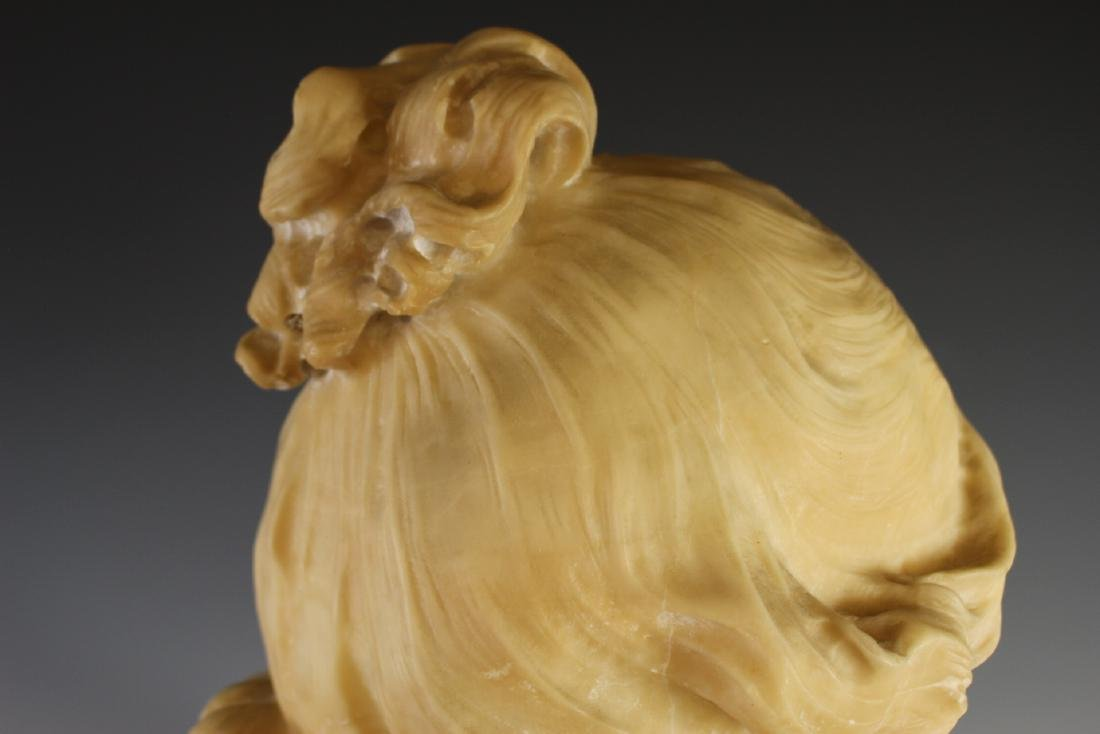 Victorian Carved Alabaster Bust of Woman - 5