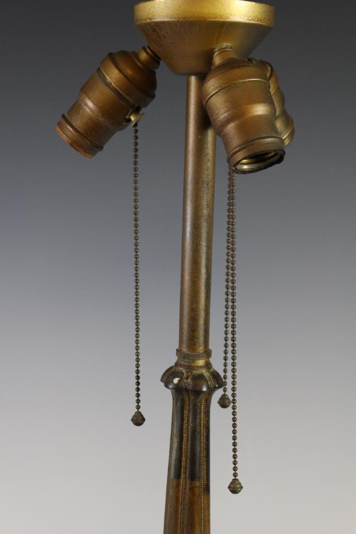 E. Miller Signed Leaded Lamp - 7