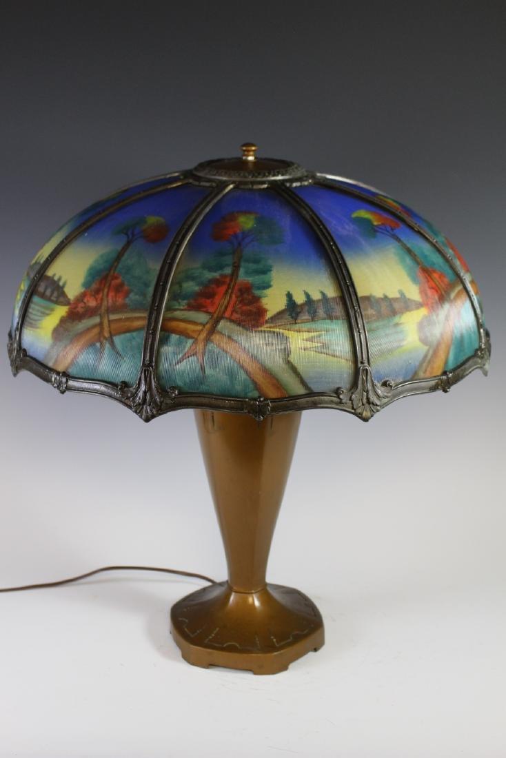 Bradley And Hubbard Style Lamp - 2