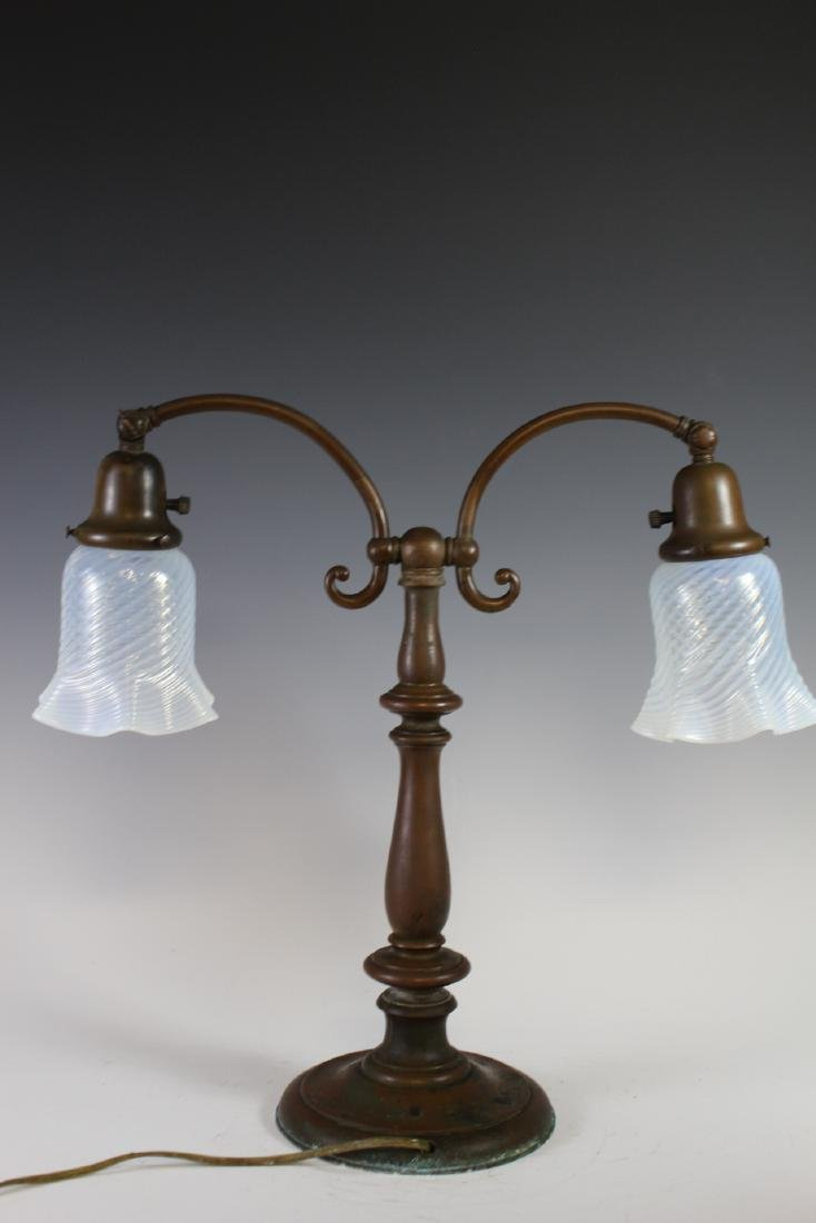 Signed Handel Double Student Lamp - 9