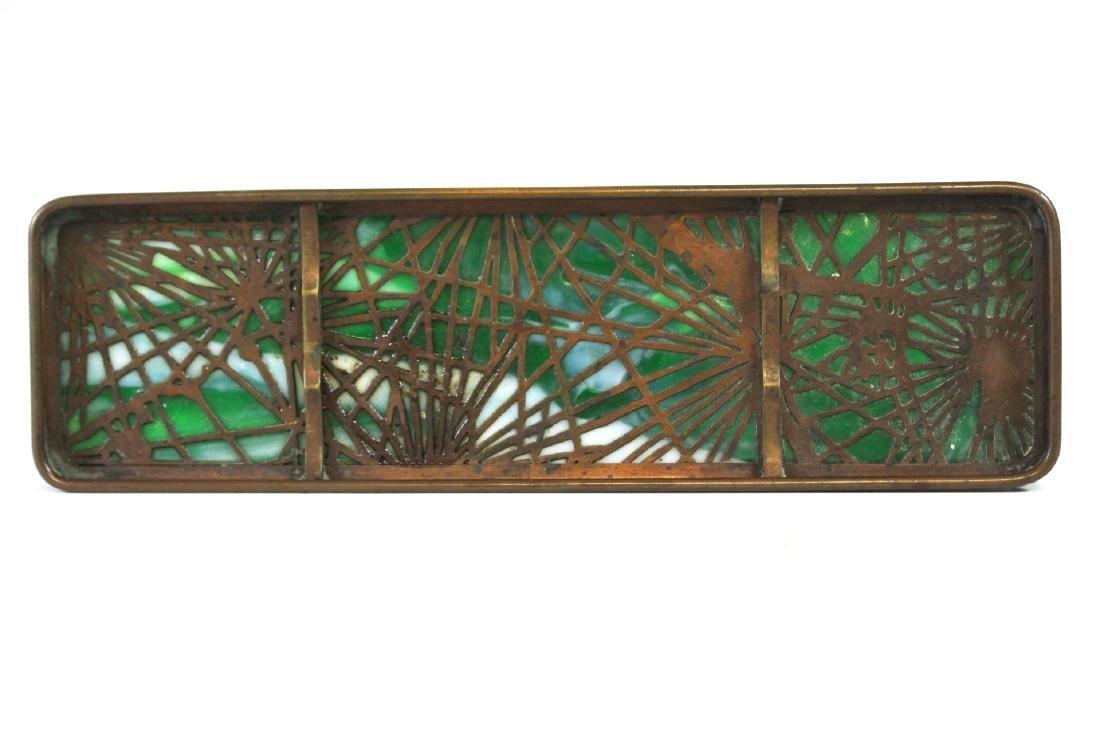 Tiffany Studios Bronze Pine Needle Pen Tray